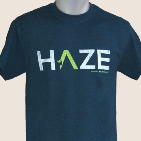 haze blue tshirt t-shirt marijuana 420