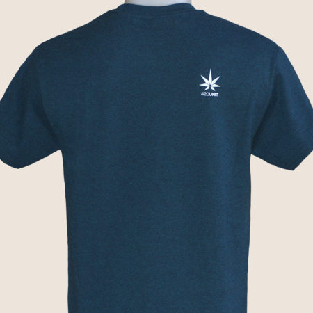 haze blue tshirt t-shirt marijuana 420 back