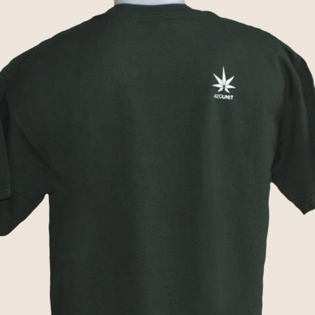 sativa icons green tshirt t-shirt marijuana 420 back