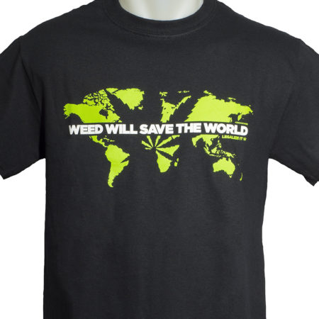 world camiseta 420 weed ganja marijuana shirt